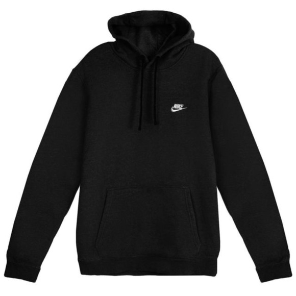 79a2e575 Nike Shirts | Mens Club Solid Pullover Cotton Hoodie Hooded | Poshmark